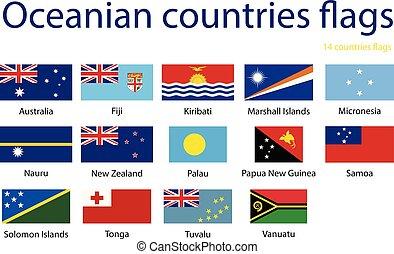 σημαίες , από , ωκεανία