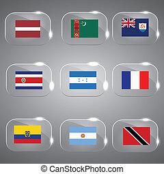σημαίες , εξοχή , σημαίες , γυαλί , σημαίες , θέτω