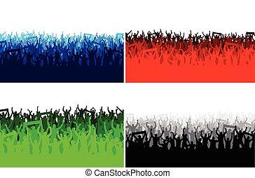 σημαίες , ευτυχισμένος , άνθρωποι