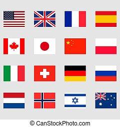 σημαίες , θέτω