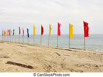 σημαίες , παραλία