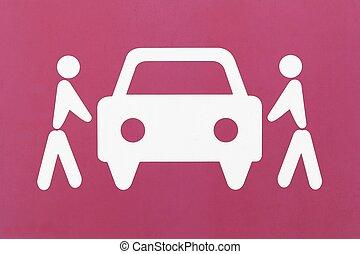 σημείο , σύμβολο , carpool , κατάλογος ένορκων