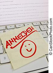 σημείωση , ηλεκτρονικός υπολογιστής , keyboard:, σήμα