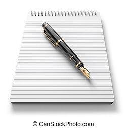 σημείωση , πένα , ανένδοτος , &
