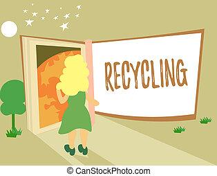 σημείωση , recycling., επιχείρηση , φωτογραφία , εκδήλωση , ουσιώδης , προστατεύω , γράψιμο , περιβάλλον , showcasing, αλλάζω , σπατάλη , reusable