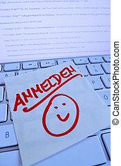 σημείωση , signup, ηλεκτρονικός υπολογιστής , keyboard:
