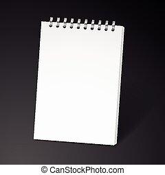 σημειωματάριο , ελικοειδής , κενό