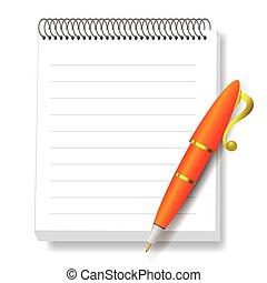 σημειωματάριο , πένα