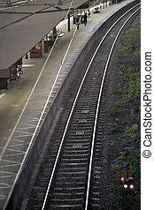 σιδηροδρομικόs σταθμόs , εξέδρα