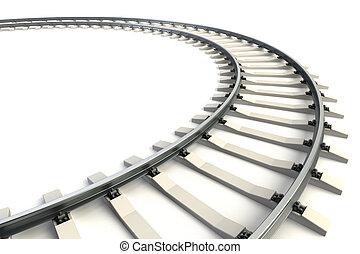 σιδηρόδρομος , απομονωμένος