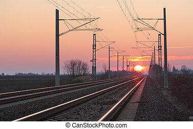 σιδηρόδρομος , λυκόφως