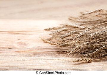 σιτάρι , επάνω , ξύλο