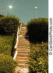 σκάλα , ήλιοs