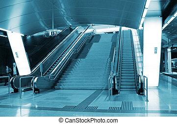 σκάλα , θέση , μοντέρνος , μετρό