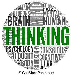 σκεπτόμενος , γενική ιδέα , λέξη , σύνεφο , ετικέτα