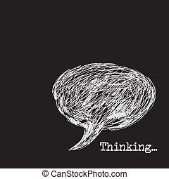 σκεπτόμενος