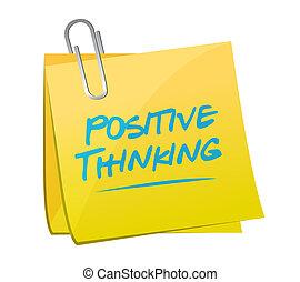 σκεπτόμενος , εικόνα , σημείωμα , ταχυδρομώ , θετικός