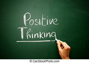 σκεπτόμενος , επιχείρηση , chalkboard , θετικός , μετοχή του draw , γενική ιδέα , λέξη