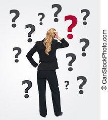 σκεπτόμενος , επιχειρηματίαs γυναίκα