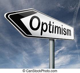 σκεπτόμενος , θετικός , αισιοδοξία
