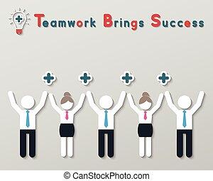 σκεπτόμενος , θετικός , γενική ιδέα , ομαδική εργασία , ...
