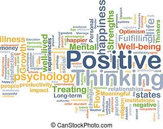 σκεπτόμενος , θετικός , γενική ιδέα , φόντο