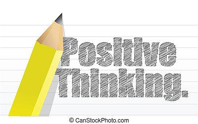 σκεπτόμενος , θετικός , γραμμένος , μπλοκ , μήνυμα
