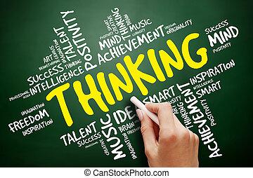 σκεπτόμενος , σύνεφο , γενική ιδέα , λέξη , επιχείρηση