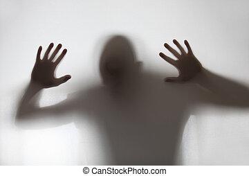 σκιά , ανθρώπινος