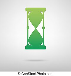 σκιά , πράσινο , hourglass., εικόνα