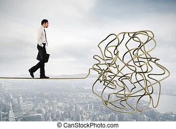 σκοινί , δυσκολία , πρόβλημα , γενική ιδέα , ανακάτεμα