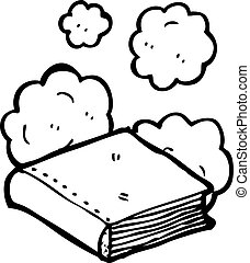 σκονισμένος , βιβλίο , γριά , γελοιογραφία