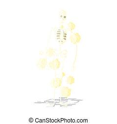 σκονισμένος , γριά , γελοιογραφία , σκελετός