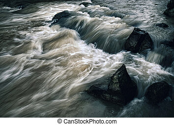 σκοτάδι , βράδυ , άγριος , ποτάμι