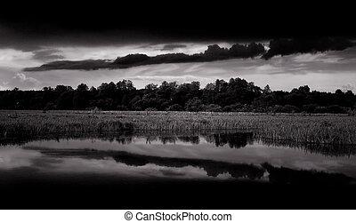 σκοτάδι , μαύρο , αγαθός θαμπάδα , τοπίο