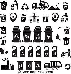 σκουπίδια , απεικόνιση , θέτω