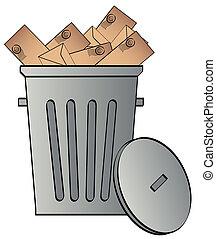 σκουπίδια , εκσφενδονίζω , κάλυμμα , μπορώ