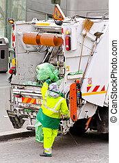 σκουπίδια , εργάτης