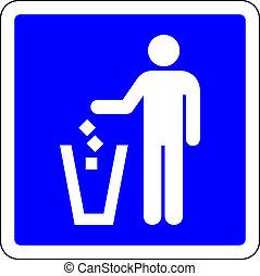 σκουπίδια , σήμα , επέτρεψα , μπλε , trow