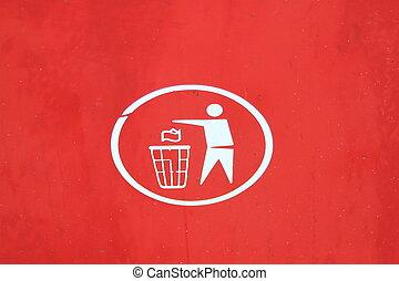 σκουπίδια , σύμβολο , διάθεση