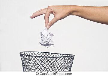 σκουπίδια , χέρι