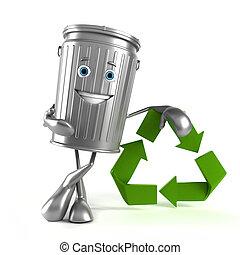 σκουπίδια , χαρακτήρας , μπορώ