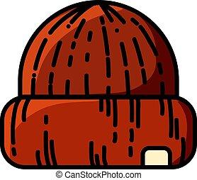 σκούφοs , απομονωμένος , έπλεξα , μικροβιοφορέας , μανιώδης της τζάζ , ανέμελος , κόκκινο