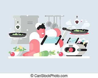 σκούφοs , επεξεργάζομαι , μαγειρεύω , υπέροχος , πιάτο , άσπρο