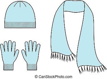 σκούφοs , φουλάρι , γάντια