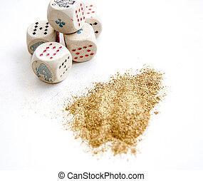 σκόνη , άσπρο , έγχρωμος , χρυσός