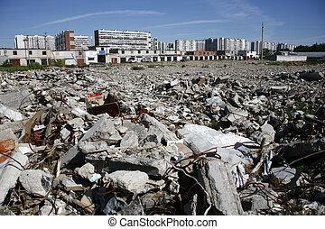 σκόνη , σκουπιδότοπος