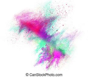 σκόνη , powder., έγχρωμος