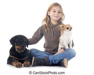σκύλοι , παιδί