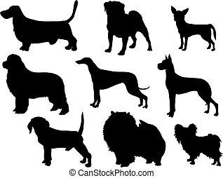 σκύλοs , απεικονίζω σε σιλουέτα